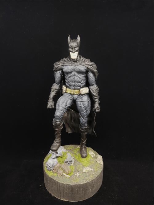 Batman Figur_Erstellt aus Polymer Clay und mit Acrylfarben bemalt