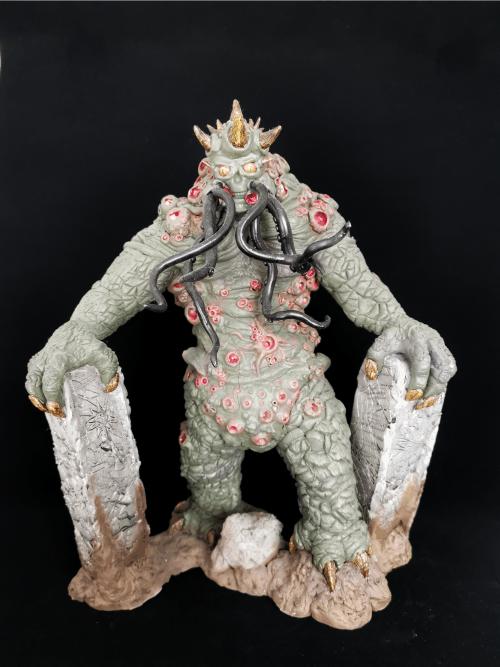 Cthulhu Figur_Erstellt aus Polymer Clay und mit Acrylfarben bemalt