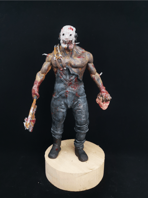Dead by Dalight Trapper Figur_Erstellt aus Polymer Clay und mit Acrylfarben bemalt