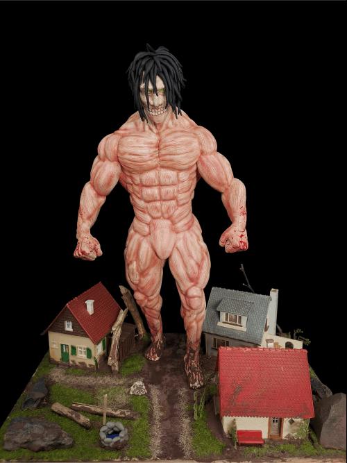 Eren Jaeger Figur_Erstellt aus Polymer Clay und mit Acrylfarben bemalt