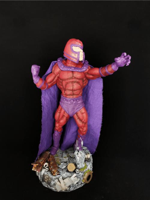 Magneto Figur_Erstellt aus Polymer Clay und mit Acrylfarben bemalt