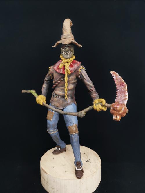 Scarecrow Figur_Erstellt aus Polymer Clay und mit Acrylfarben bemalt