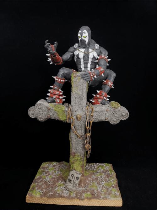 Spawn Figur_Erstellt aus Polymer Clay und mit Acrylfarben bemalt