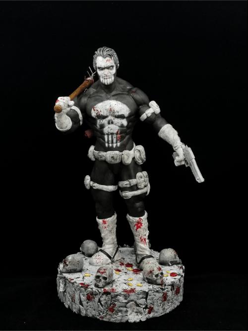 The Punisher_Frank Castle Figur_Erstellt aus Polymer Clay und mit Acrylfarben bemalt