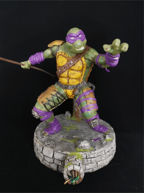 Turtle Figur_Erstellt aus Polymer Clay und mit Acrylfarben bemalt